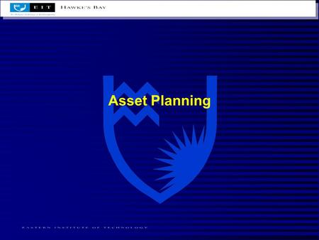 Asset Planning. Introduction Some goals of asset planning are : –divesting assets –splitting income carried from assets or investments –reducing tax that.