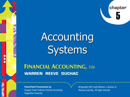 5 Accounting Systems.