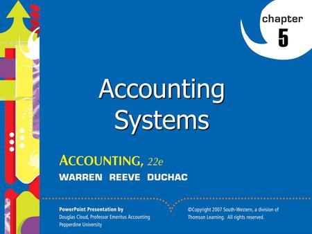 1 5 Accounting Systems. 2 1. Define an accounting system and describe its implementation. 2. Journalize and post transactions in a manual accounting system.