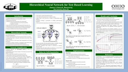 Template design only ©copyright 2008 Ohio UniversityMedia Production 740.597-2521 Spring Quarter  A hierarchical neural network structure for text learning.