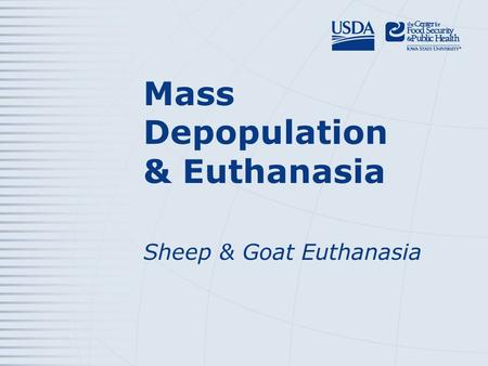 Mass Depopulation & Euthanasia Sheep & Goat Euthanasia.