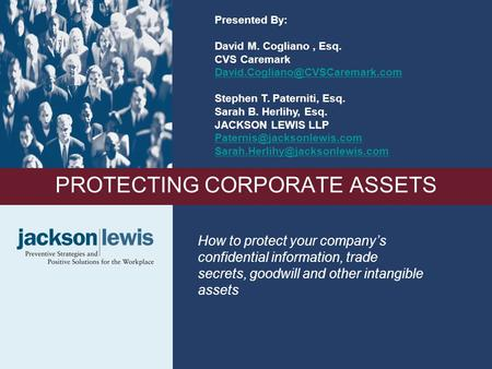 PROTECTING CORPORATE ASSETS