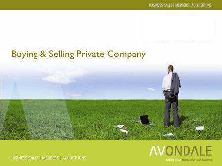 Buying & Selling Private Company. Avondale Group Ltd Lead Advisors - Business sales - Acquisitions - Mid market deals - International Transaction Advisors.