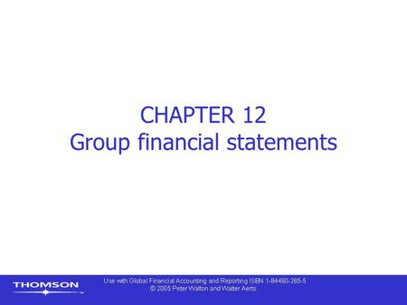 CHAPTER 12 Group financial statements