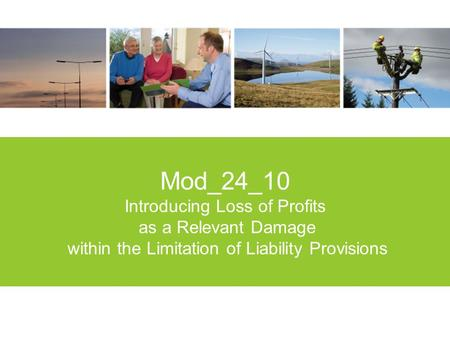 1 Mod_24_10 Introducing Loss of Profits as a Relevant Damage within the Limitation of Liability Provisions.