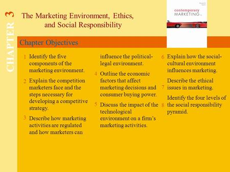 CHAPTER 3 The Marketing Environment, Ethics, and Social Responsibility