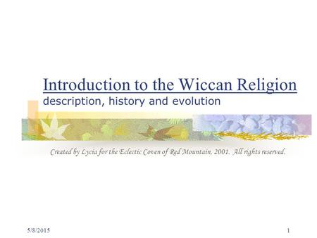 an introduction to the origins of wicca the forgotten religion Occurred with the introduction of psychoanalysis to the study of witchcraft history and the witchcraft and religion: history of witchcraft.
