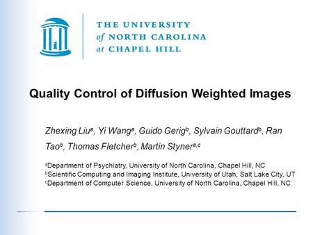 Quality Control of Diffusion Weighted Images