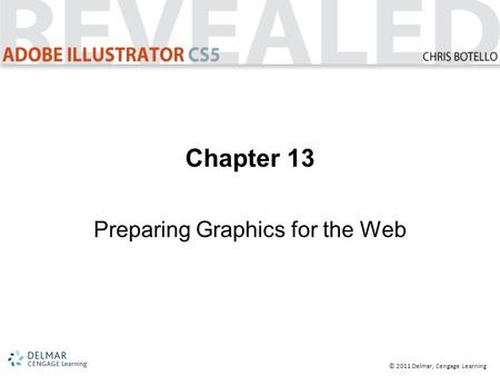 © 2011 Delmar, Cengage Learning Chapter 13 Preparing Graphics for the Web.