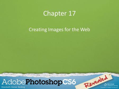 Chapter 17 Creating Images for the Web. Chapter Lessons Learn about Web features Optimize images for Web use Create a button for a Web page Create slices.