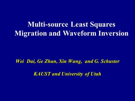 Multi-source Least Squares Migration and Waveform Inversion