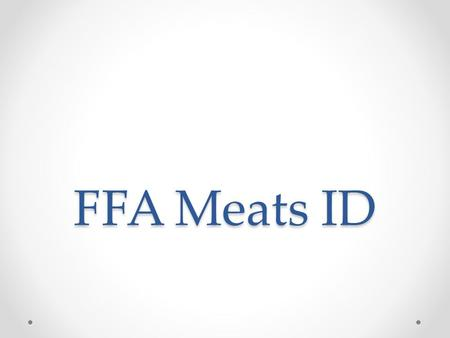 FFA Meats ID. BEEF Bottom Round Roast (Bnls.) Bottom Round Rump Roast.