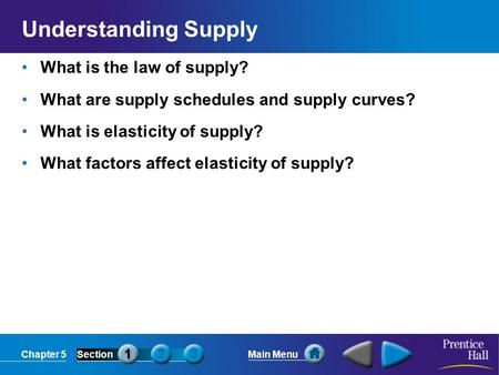 Understanding Supply What is the law of supply?