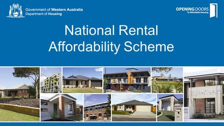National Rental Affordability Scheme. Shovel Ready round Round 5.