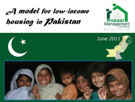 A model for low-income housing in Pakistan June 2011.