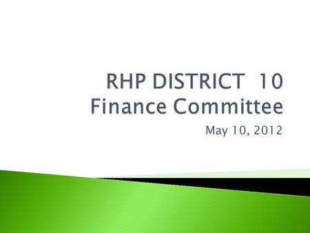 May 10, 2012.  Committee charter  Understand waiver funds flow  IGT fundamentals  UC pool payments  DSRIP pool payments  Timeframes  Begin work.