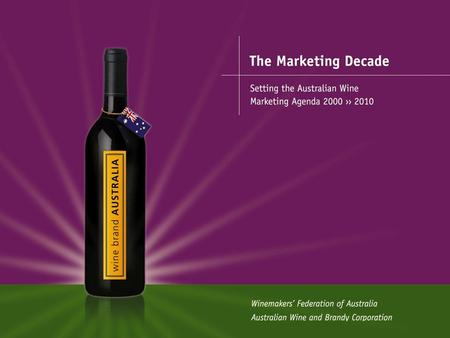 The Marketing Decade The Marketing Decade is the beginning of the Marketing Decade and our mission to open new frontiers (markets). 2001.