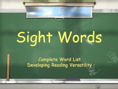 Sight Words Complete Word List Developing Reading Versatility Complete Word List Developing Reading Versatility.