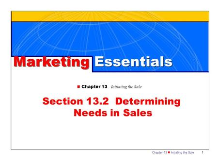 Section 13.2 Determining Needs in Sales