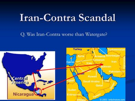 Iran Contra The Link Between Secret Arms Sales To Iran And