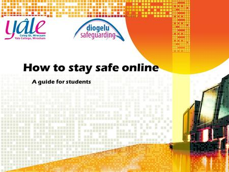 How to stay safe online A guide for students. e-Safety e-Safety relies on selecting appropriate privacy levels, knowing how to behave online and understanding.