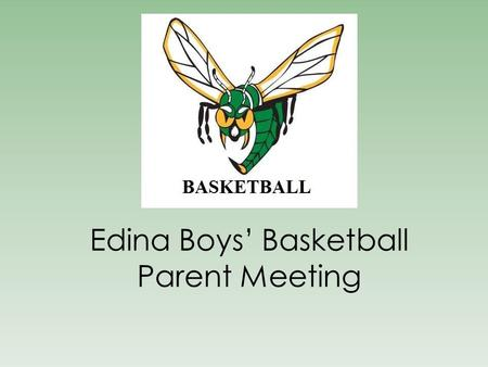 Edina Boys' Basketball Parent Meeting