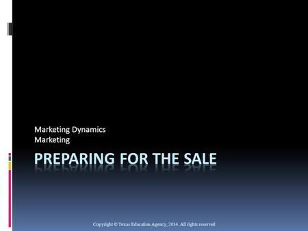 Marketing Dynamics Marketing