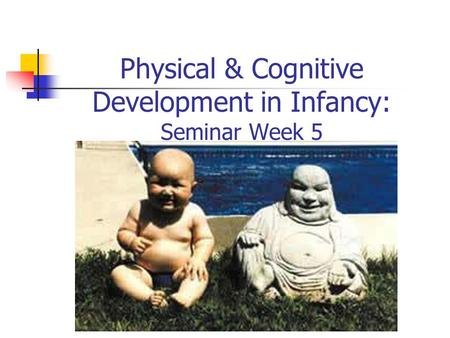 Physical & Cognitive Development in Infancy: Seminar Week 5.