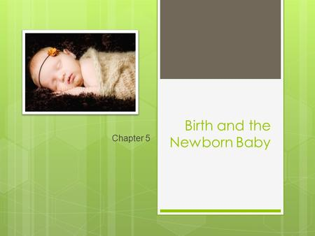 Birth and the Newborn Baby Chapter 5. Childbirth and Culture: How Birthing Has Changed  Home Deliveries  Midwives  Reducing the Risks of Childbirth.