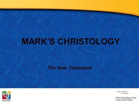 christology of mark Christology in the synoptics: what jesus taught about himself course it now becomes appropriate (still focusing exclusively on the synoptic gospels: matthew, mark and luke) to ask the question this makes the more explicit christology, still to be discussed, that much more credible.