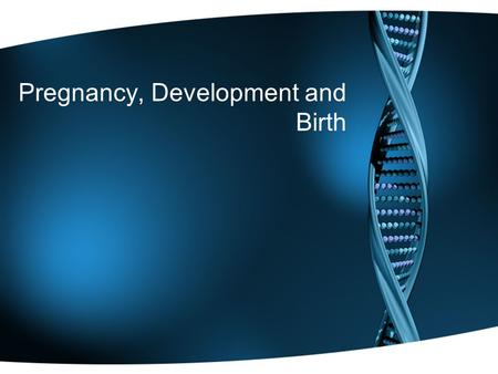 Pregnancy, Development and Birth