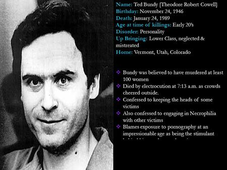 ted bundy research papers