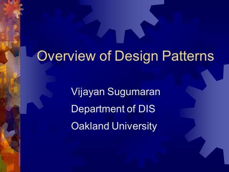 Overview of Design Patterns