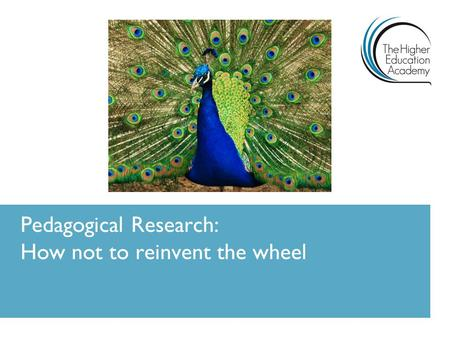 Pedagogical Research: How not to reinvent the wheel.