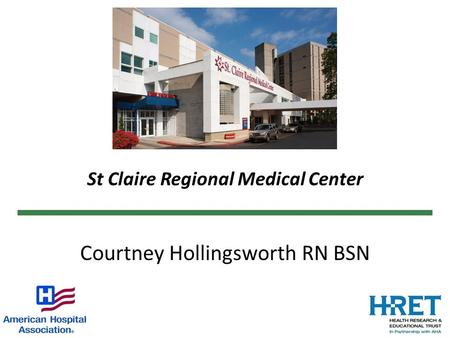 St Claire Regional Medical Center Courtney Hollingsworth RN BSN.