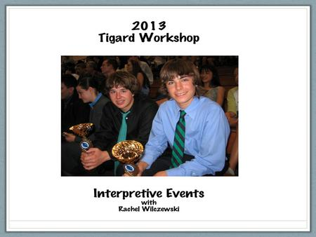 The Interpretive Events Humorous, Dramatic, Duo, Poetry, Prose, LIBELL.