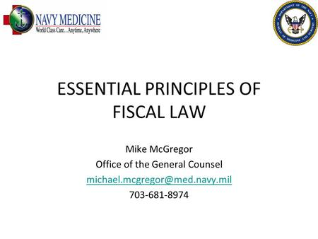 ESSENTIAL PRINCIPLES OF FISCAL LAW