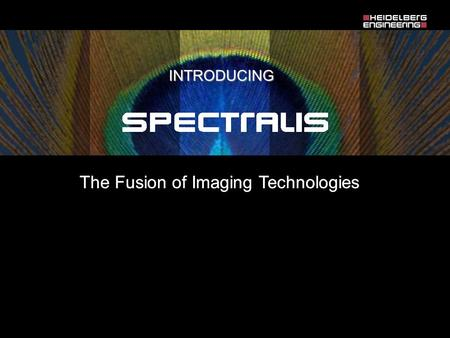 The Fusion of Imaging Technologies INTRODUCING. Spectralis is more than resolution … Time Domain OCT SPECTRALIS.