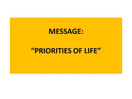"MESSAGE: ""PRIORITIES OF LIFE"". THE SINGAPORE DREAM – 5Cs!"