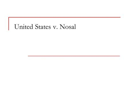 United States v. Nosal. The Nosal Fact Pattern Korn/Ferry computer Confidential information and trade secrets Authorized access by users logging in with.