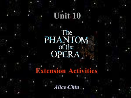 "Unit 10 Extension Activities Alice Chiu Main Menu Activity One: Role Plays Role Plays Activity Two: More about the Pattern ""Inversion"" More about the."