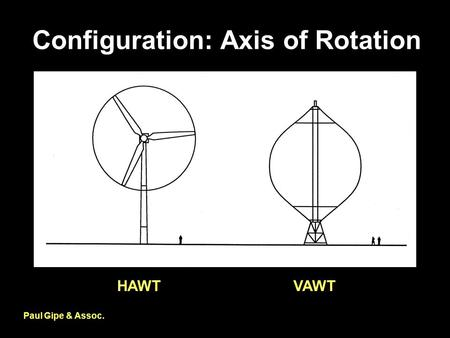 Configuration: Axis of Rotation Paul Gipe & Assoc. HAWTVAWT.