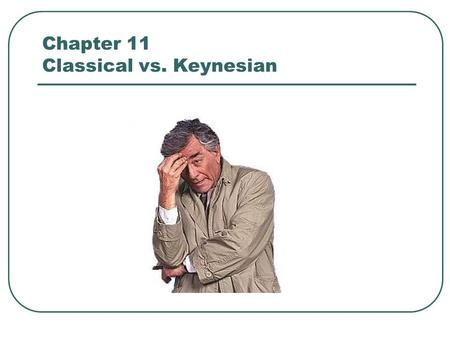 "Chapter 11 Classical vs. Keynesian. CLASSICAL BELIEVES: Markets will behave according to S&D. In other words. S&D will respond accordingly to ""Inflationary."