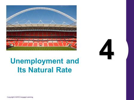 Unemployment and Its Natural Rate