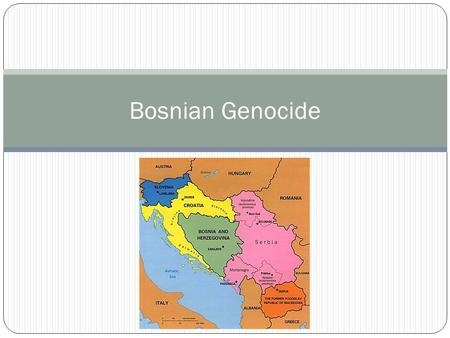 Bosnian Genocide. Perpetrators When: April 1992- December 1995 Who: Bosnian Serbs, Slobodan Milosevic Slobodan Milosevic (1941- 2006) President of Serbia.