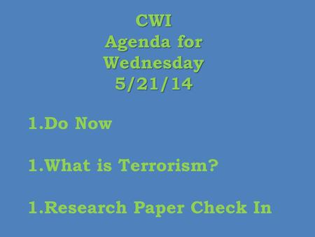 terrorism research paper introduction Free terrorism papers, essays, and research papers these results are sorted by most relevant first (ranked search) you may also sort these by color rating or essay length.