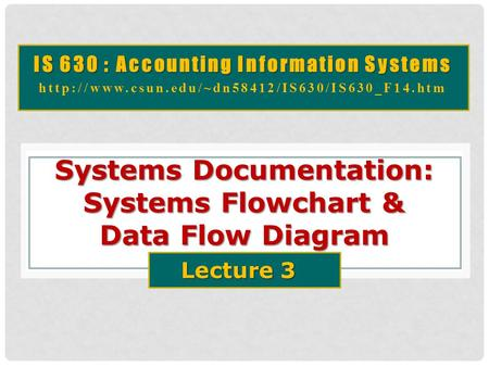 Systems Documentation: Systems Flowchart & Data Flow Diagram