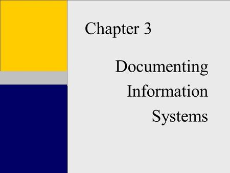 Documenting Information Systems