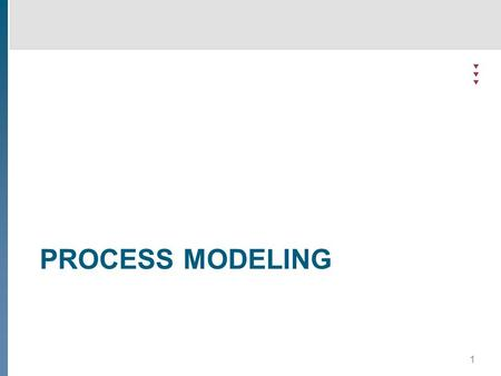 PROCESS MODELING 1. 2 Process modeling - theory Definition  What is process modeling?  The description of the sequence of activities executed in a process.