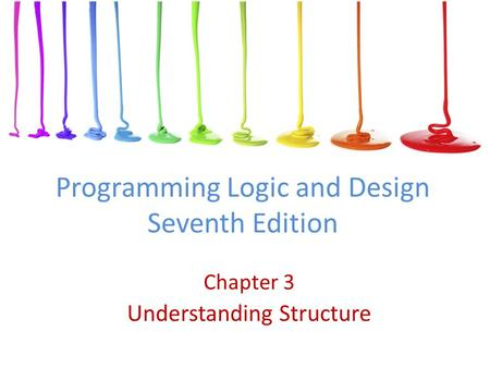 Programming Logic and Design Seventh Edition Chapter 3 Understanding Structure.